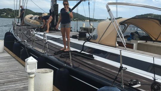 Boat Handling – Bringing her alongside using the mid back spring